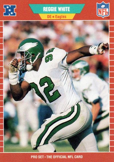 Reggie White 1989 Pro Set football card