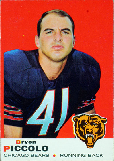 Brian Piccolo 1965 Topps football card
