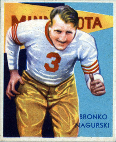Bronko Nagurski 1935 National Chicle football card