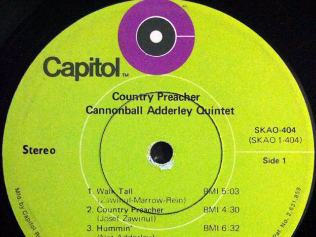 "Sunday Jazz: The Cannonball Adderley Quintet, ""Walk Tall"""