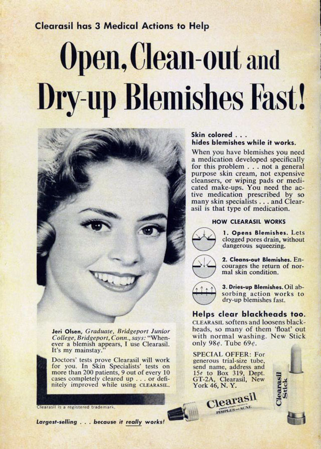 Vintage Clearasil ad, 1963
