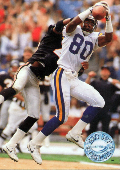 Cris Carter 1991 Pro Set football card