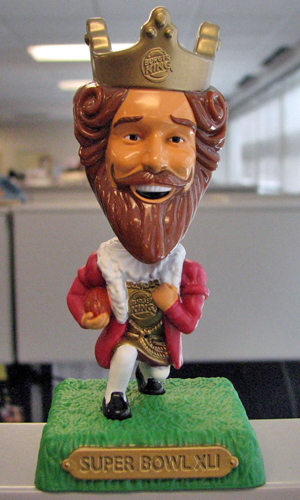 Burger King Super Bowl bobblehead