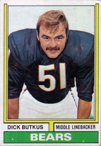 Dick Butkus 1974 Topps football card