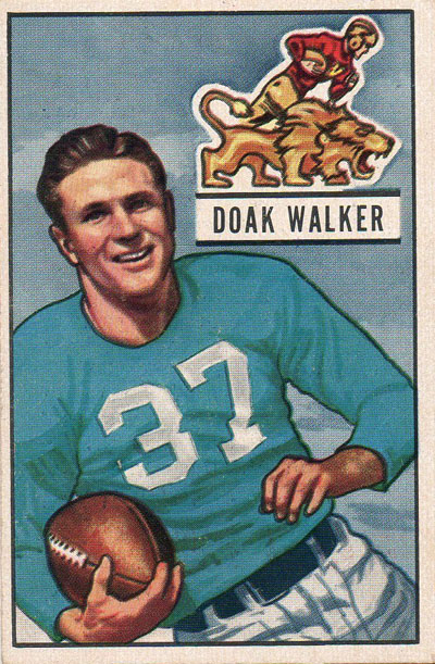 Doak Walker 1951 Bowman football card