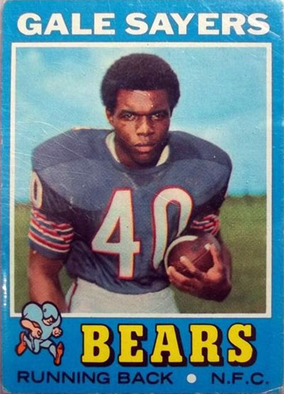 Gale Sayers 1971 Topps football card