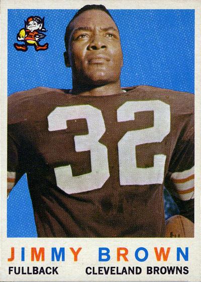 Jim Brown 1959 Topps football card