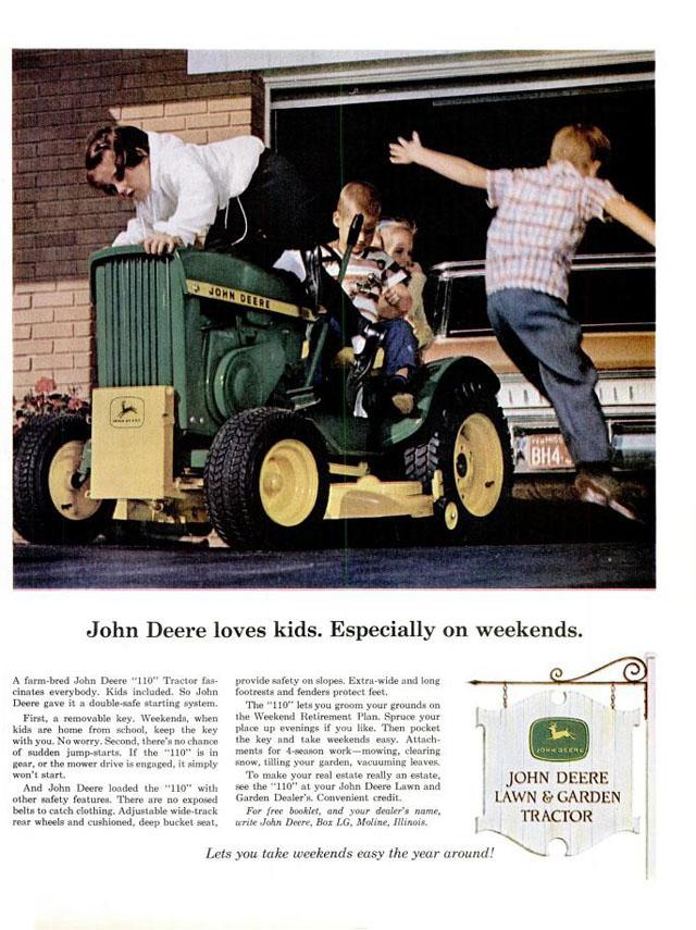 Vintage John Deere ad, 1965