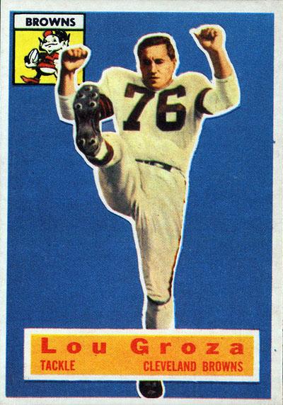 Lou Groza 1956 Topps football card