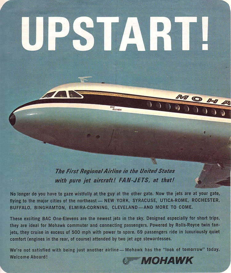 Mohawk Airlines, 1965 - A real Mad Men client