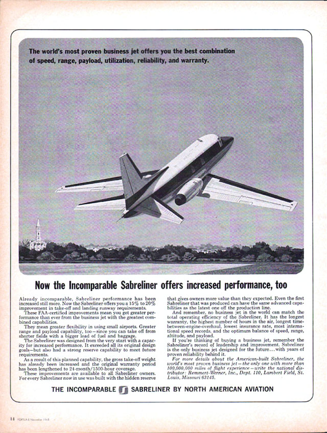 Vintage North American Aviation ad, 1965