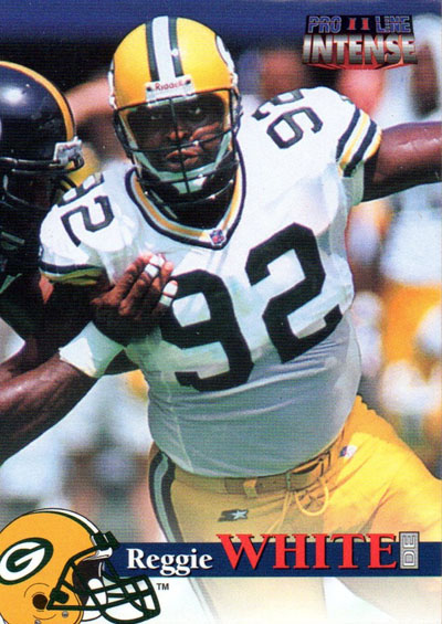 Reggie White 1996 Pro Line football card