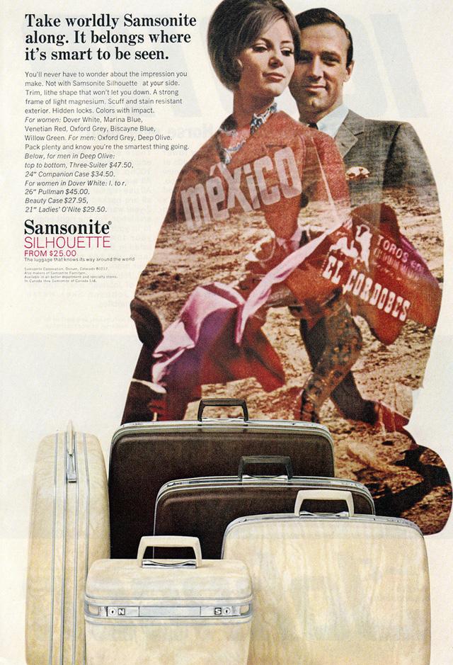 Vintage Samsonite ad, 1966