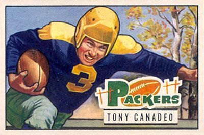 Tony Canadeo 1951 Bowman football card