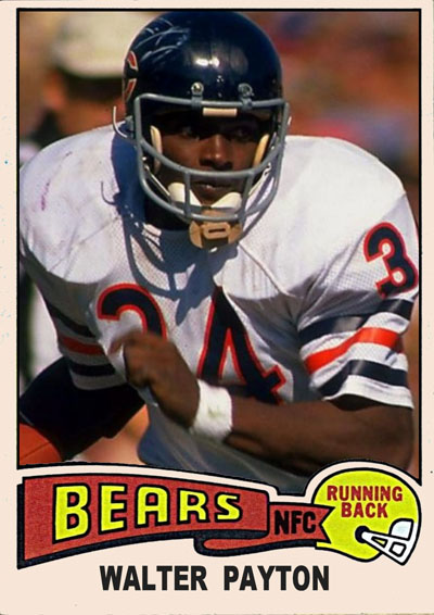Walter Payton 1975 Topps football card
