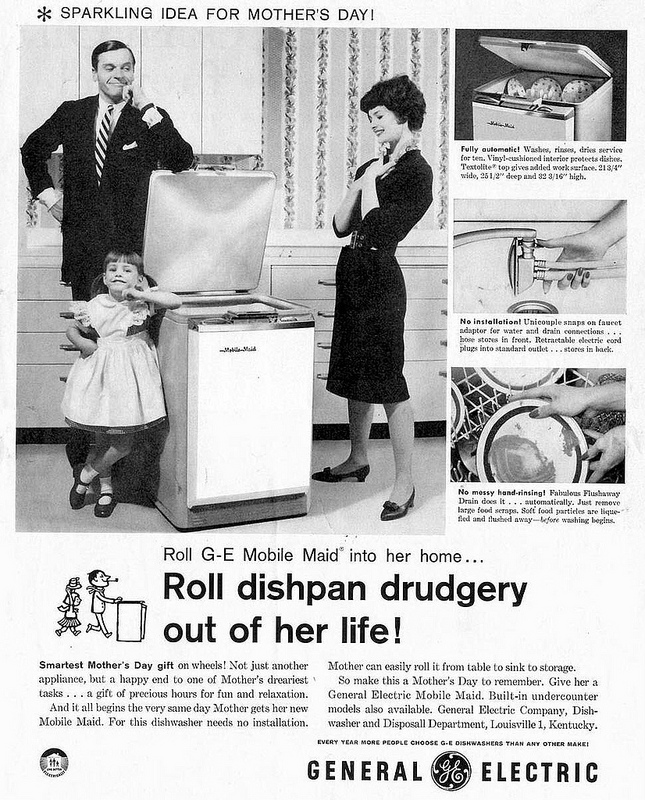 G-E Mother's Day Dishwasher ad (1959)