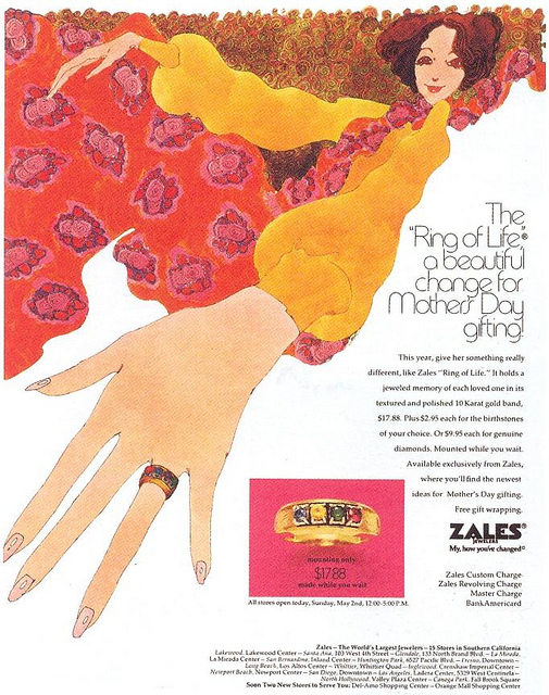 Zales Mother's Day ad (1971)