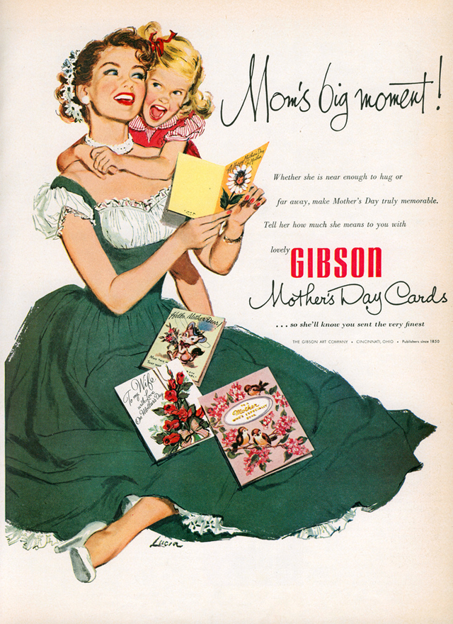 Gibson Cards Mother's Day ad (1952)