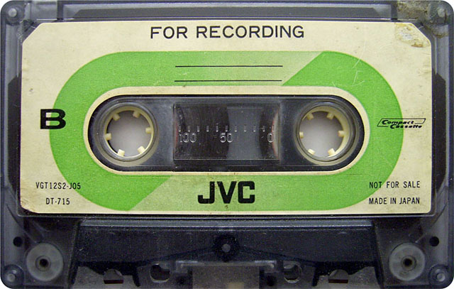 Blank audio cassette tape (JVC)