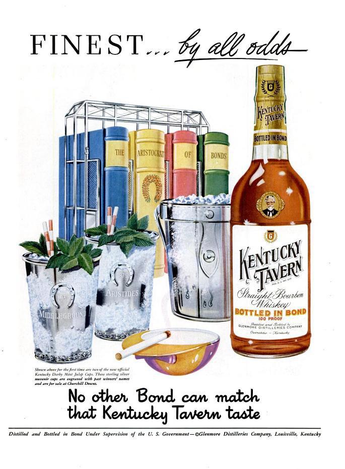 Kentucky Tavern Whiskey ad, 1951