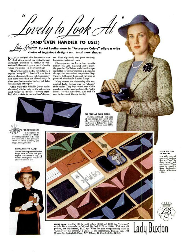 Vintage Mother's Day ad - Lady Buxton, 1939