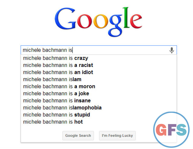 Michele Bachmann Google search results