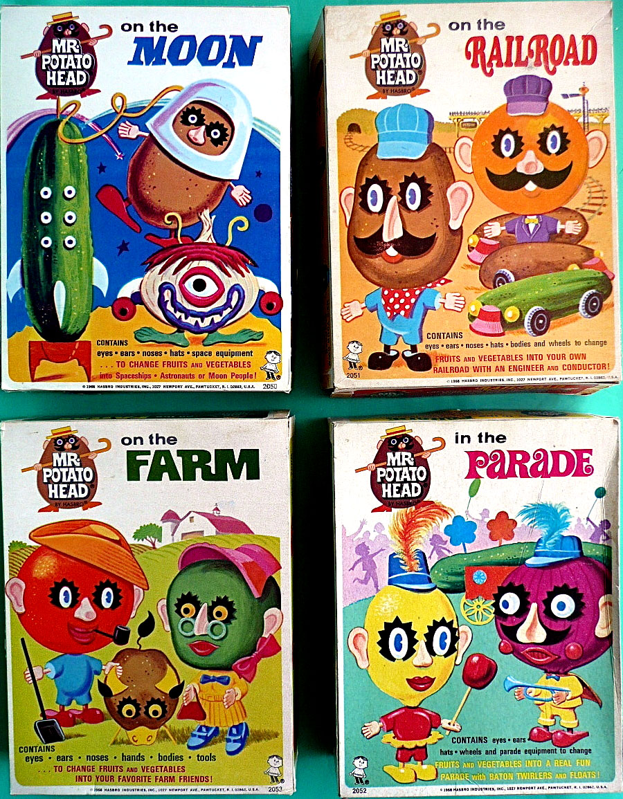 Mr. Potato Head on the Moon, on the Railroad, on the Farm, and in the Parade