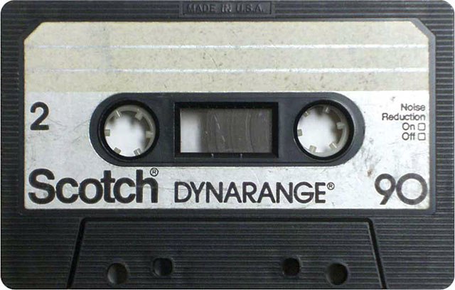 Blank audio cassette tape (Scotch)