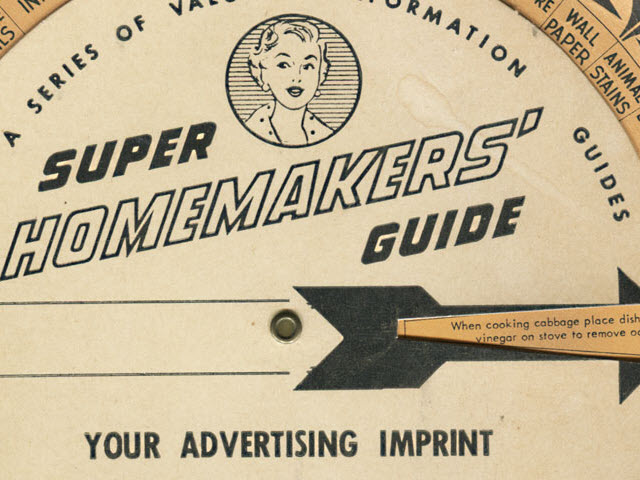 1954 Super Homemakers' Guide Volvelle