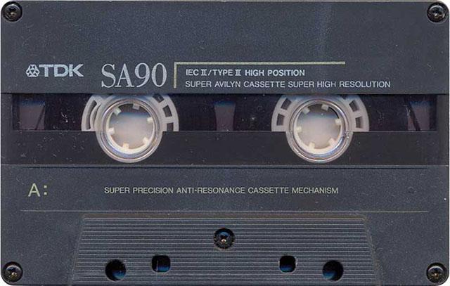 Blank audio cassette tape (TDK)