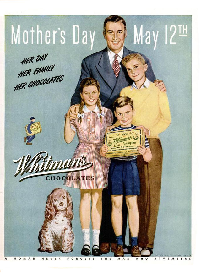 Vintage Mother's Day ad - Whitman's Chocolates, 1946