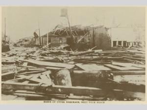 Damage from the Okeechobee hurricane (1928)