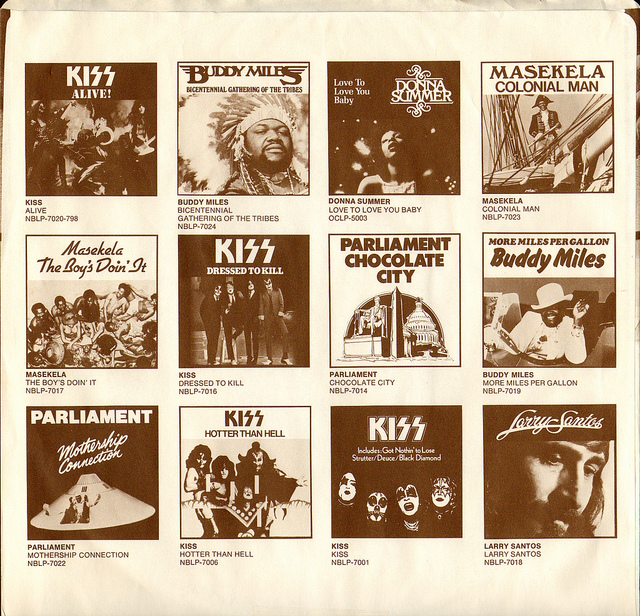 Kiss, 'Alive!' inner record dust sleeve