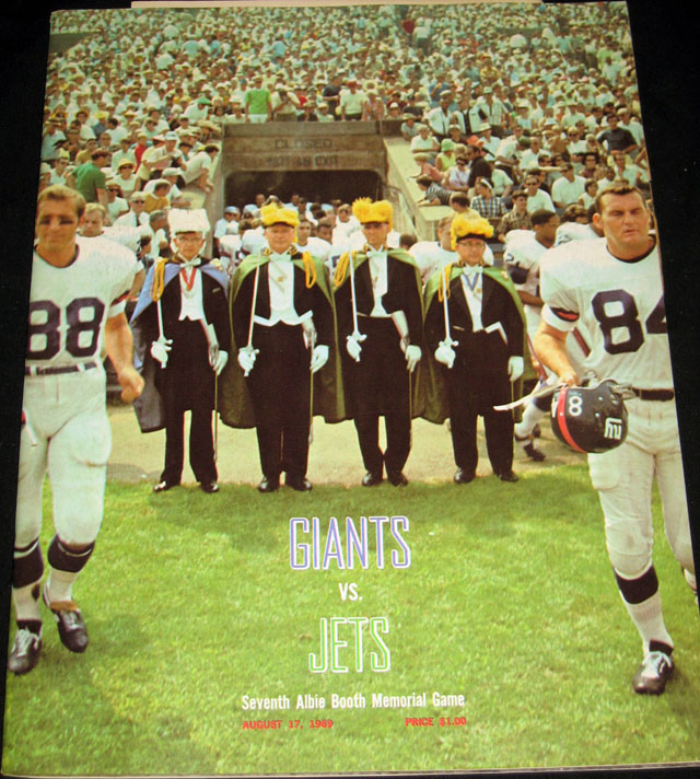 New York Jets at New York Giants — August 17, 1969