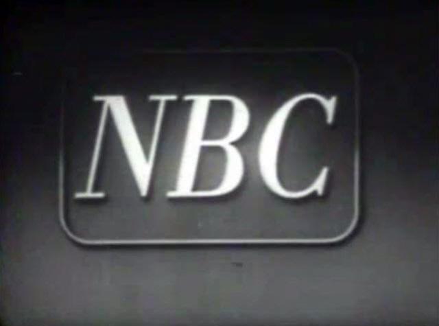 NBC Text Wordmark Logo (Early 1950s)