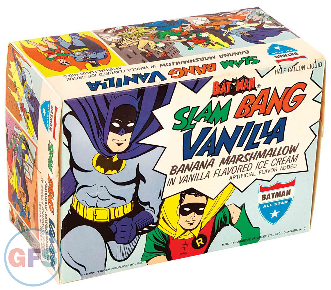 Batman & Robin Slam Bang Vanilla Ice Cream (All Star Ice Cream, 1966)
