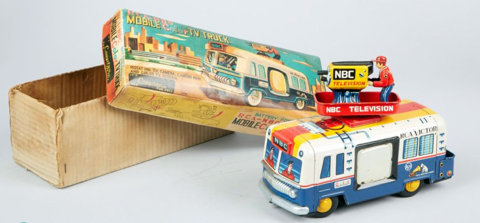 Vintage Cragstan RCA-NBC Mobile Color TV Truck Toy