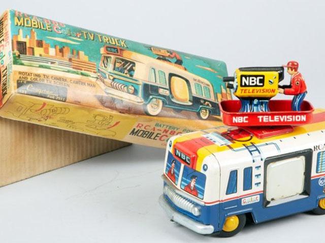 Vintage Cragstan RCA-NBC Mobile Color TV Truck Toy
