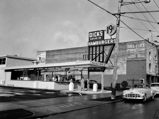 Dick's Drive-In Hamburgers, Seattle 1955