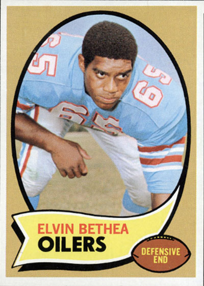 Elvin Bethea 1970 Topps football card
