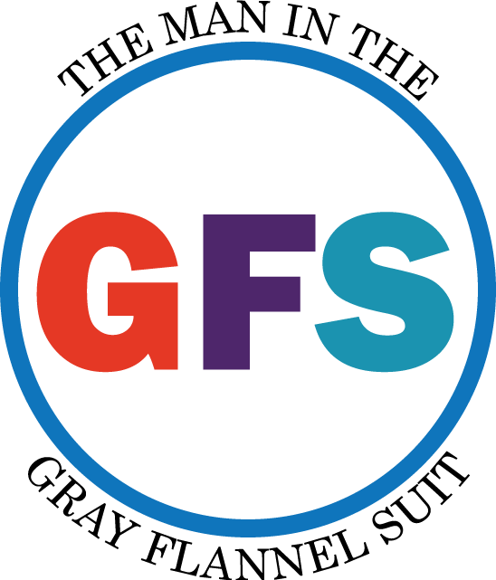 The Man in the Gray Flannel Suit GFS logo