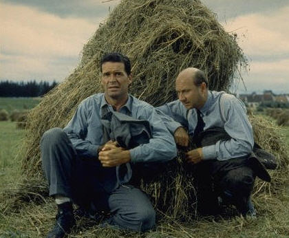James Garner and Donald Pleasence in The Great Escape (1963)