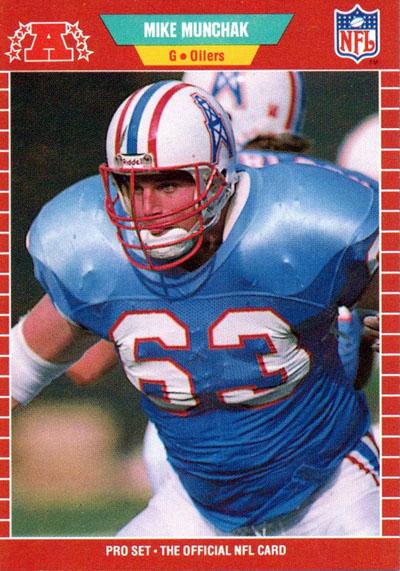 Mike Munchak 1989 Pro Set football card