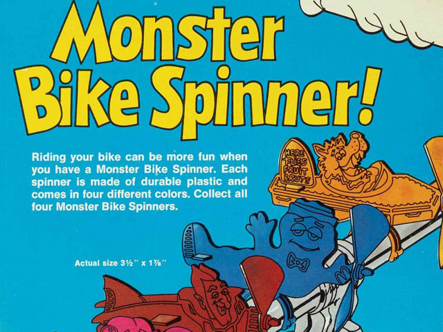 Monster Bike Spinner ad, General Mills 1970s