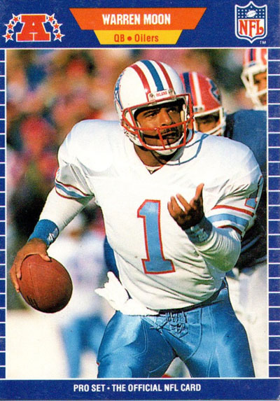 Warren Moon 1989 Pro Set football card