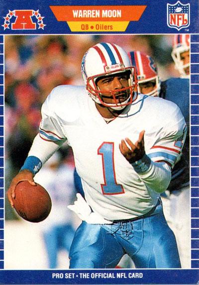 Warren Moon 1989 Pro Set football card