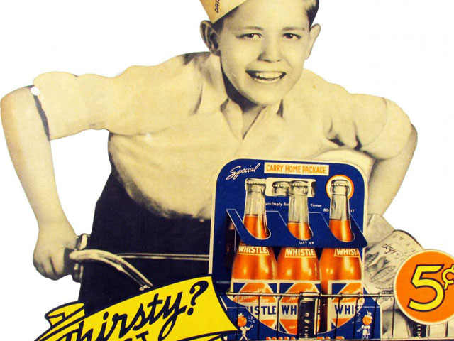 Auction Finds: Whistle Orange Soda Advertising Signs