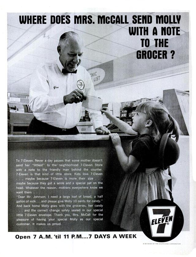 Vintage 7-Eleven Ad, 1966