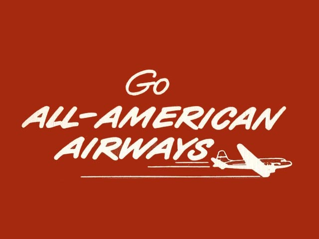 All American Airways logo (1951-1952)