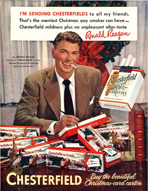 Ronald Reagan Chesterfield ad, 1952
